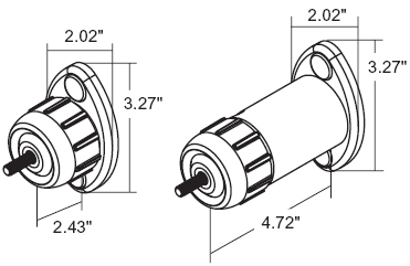 Technical drawing for Peerless SPK811 or SPK811W Universal Speaker Mount Wall or Ceiling