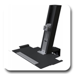 Humanscale QuickStand Light Workstation with Small Platform