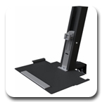 Humanscale QuickStand Light Workstation with Large Platform