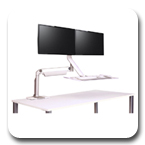 Humanscale QuickStand Lite Dual Monitor Sit-Stand Workstation