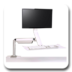 Humanscale QuickStand Lite Single Monitor Sit-Stand Workstation